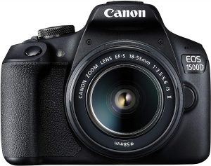 Canon EOS 1500D 24.1 Digital SLR Camera with EF S18-55 is II Lens, 16GB Card